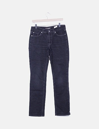 Jeans denim recto negro