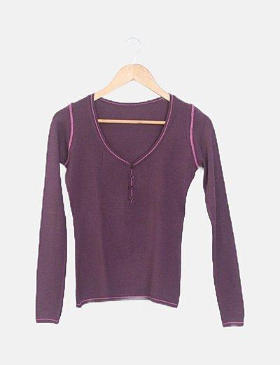 Jersey tricot morado