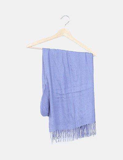 Pañuelo azul desflecado