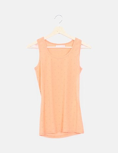 Camiseta canale naranja estampada