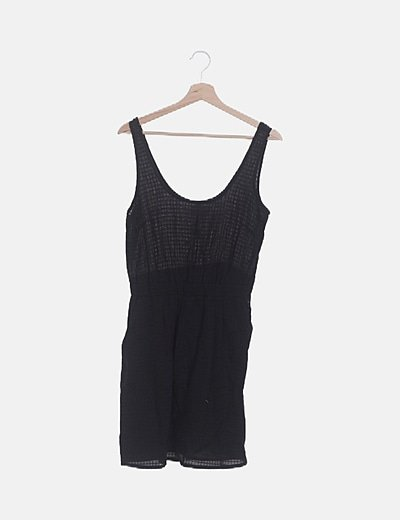 Vestido negro combinado