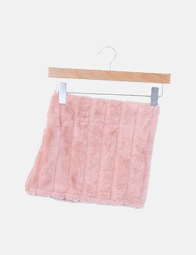 Cuello peluche rosa