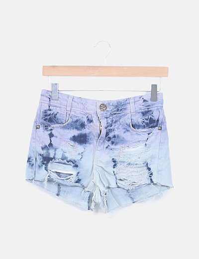 Shorts denim degradado ripped