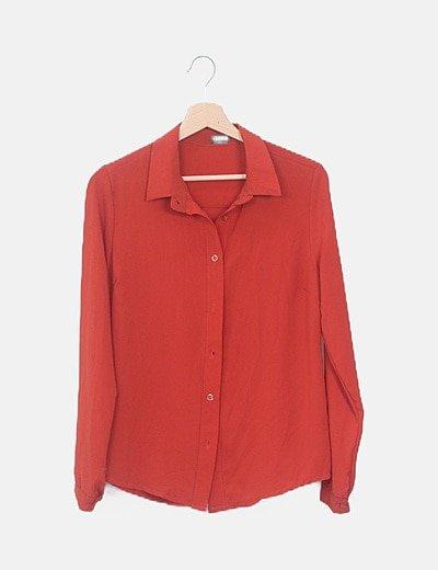 Camisa fluida rojo teja