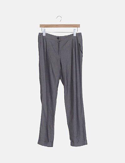 Pantalón chino gris jaspeado