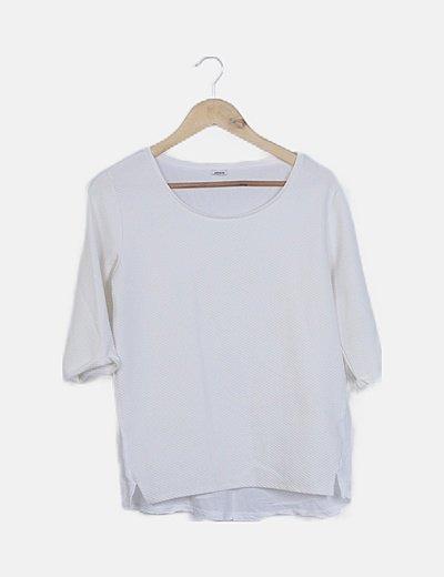 Camiseta blanca texturizada