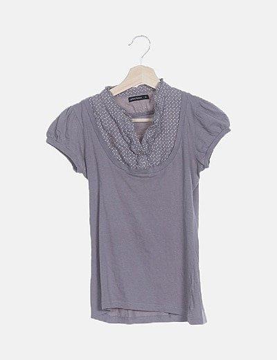 Camiseta gris combinada