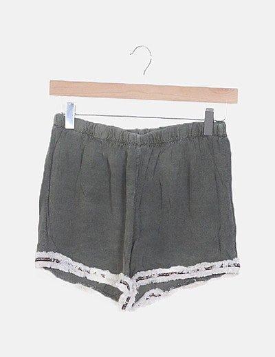 Shorts fluido gris étnico
