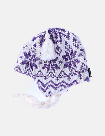 Gorro blanco estampado