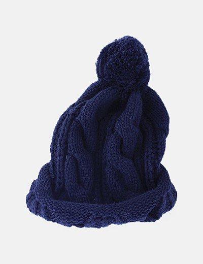Gorro tricot azul marino