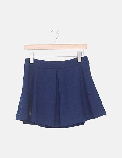 Falda con volantes azul marino