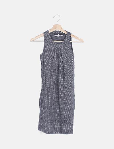 Vestido mini estampado gris