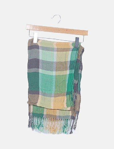 Foulard tricot cuadros verde