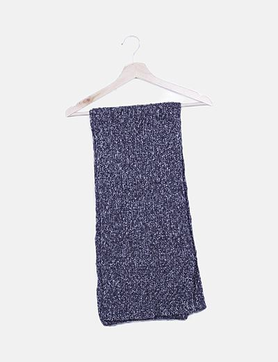 Bufanda lana gris jaspeada
