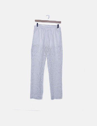 Pantalón crochet blanco