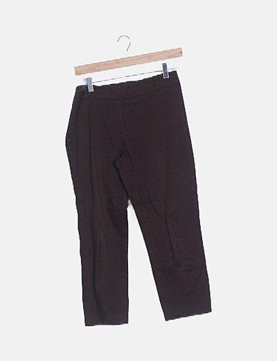 Pantalón pirata marrón