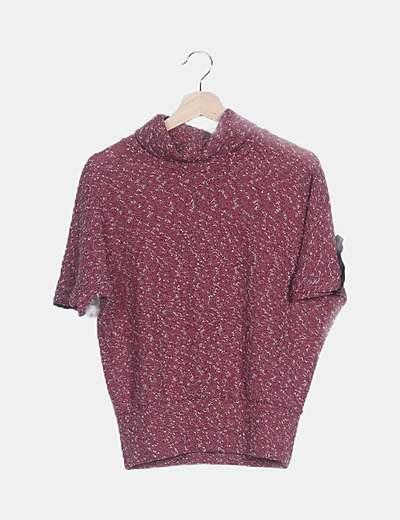 Camiseta granate jaspeada