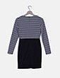 Vestido rayas horizontales y falda tubo Forever 21