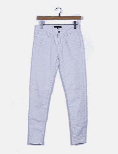 Jeans skinny blanco