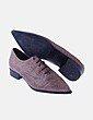 Zapato de punta animal print Uterqüe