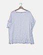 Blusa blanca oversize lino detalles crochet NoName
