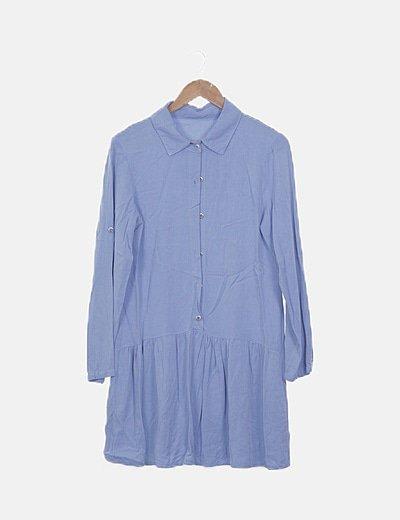 Vestido azul camisero pep lum