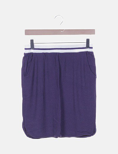 Mini falda morada fluida