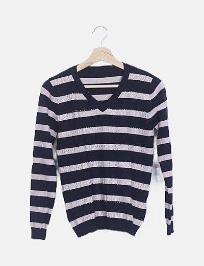 Jersey tricot bicolor con strass