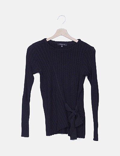 Jersey negro detalle lazo