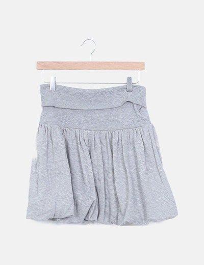 Mini falda gris globo