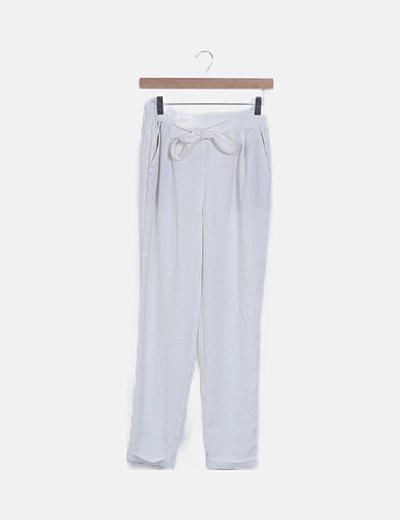 Pantalón baggy blanco