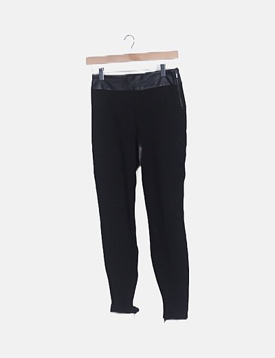 Legging negro cintura polipiel