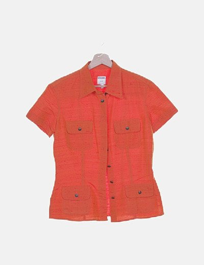 Camisa naranja jaspeada