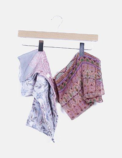 Pack pañuelo estampado