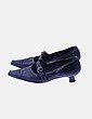 Zapato tacón bajo negro María Jaén