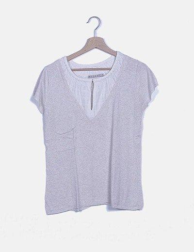 Jersey tricot beige combinado