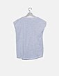 Camiseta gris hombro strass Easy Wear