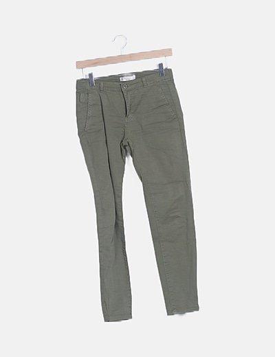 Jeans pinza verde bolsillos