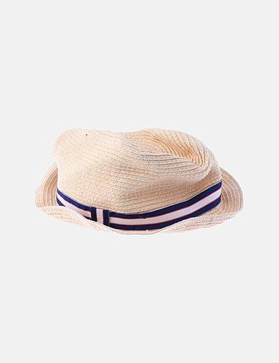 Sombrero rafia marrón