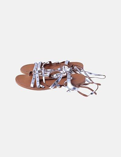 Sandalias doradas lace up