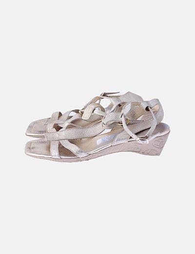 Sandalia dorada glitter