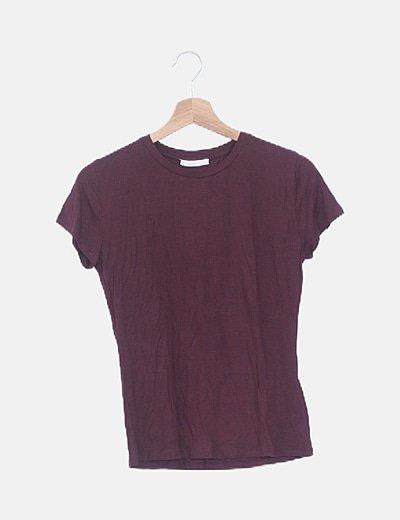Camiseta granate manga corta