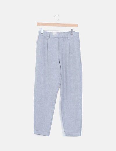 Pantalón gris baggy pinzas