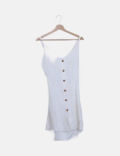 Vestido blanco abertura espalda