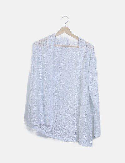 Levita crochet blanca glitter