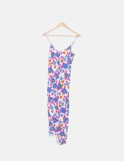 Vestido midi floral tirantes