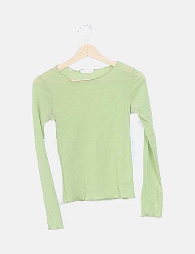 Camiseta gasa verde