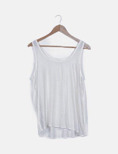 Blusa satinada blanco roto