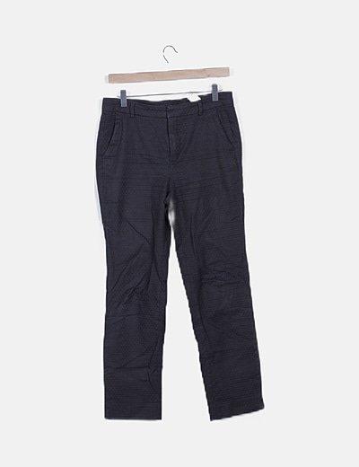 Pantalón texturizado negro