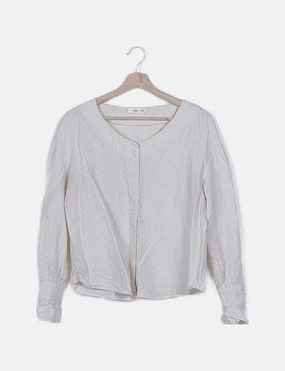 Blusa lino beige